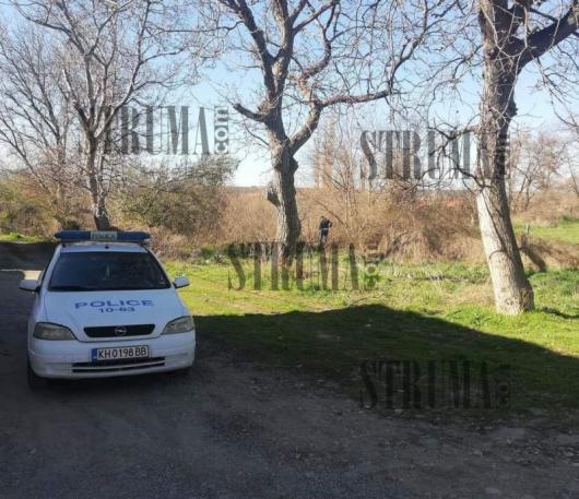 Мястото, където е намерен трупът на 70-годишния мъж