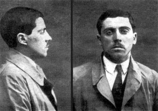 Полицейска снимка на класика Димитър Левков-Пантуди
