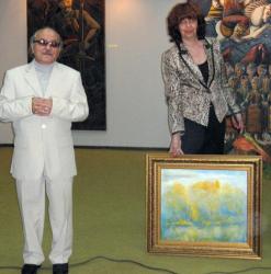 Кеазим Исинов подари още една своя картина на благоевградския музей
