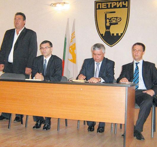 Вицепремиерът Симеон Дянков се срещнаха с петричките производители