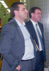 Изпълнителният директор на холдинга В. Чолаков и А. Димитров