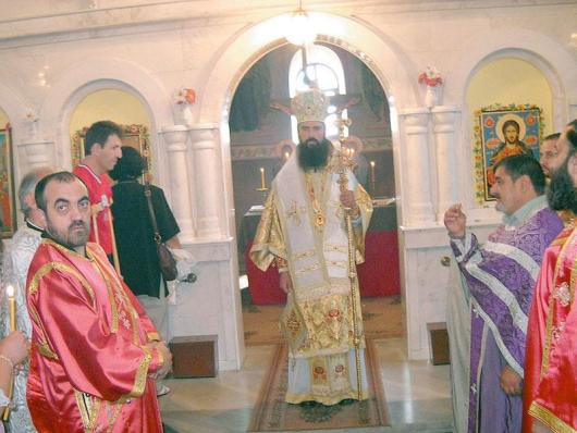 Викариен епископ Данийл в съсслужение с местни свещеници отслужи тържествена света литургия