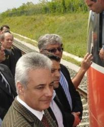 Марин Райков откри ЖП линията Свиленград - турска граница. Сн.: Bulphoto