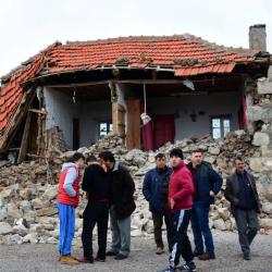 Порутена къща в с. Юкаръкьой след земетресенията в Турция на 6 февруари 2017 г. Сн.: БТА