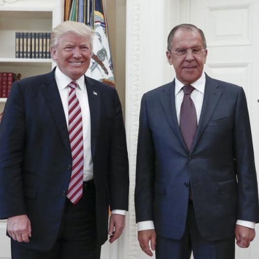 Доналд Тръмп прие неотдавна Сергей Лавров във Вашингтон. Сн.: БТА
