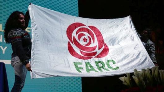 Новото лого на ФАРК – като партия Снимка: EPA