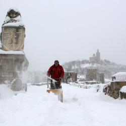 Велико Търново през зимата. Сн.: БТА