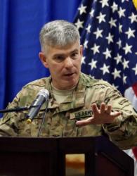 Полковник Стийв Уорън: Батарея и морски пехотинци подпомагат настъплението към Мосул. Сн.: EPA/БГНЕС