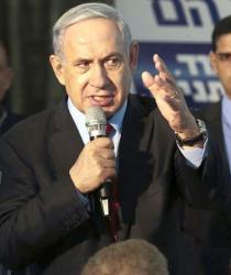 """Бенямин Нетаняху договори крехка коалиция и кабинетът му мина през парламента """"на косъм"""". Сн.: EPA/БГНЕС"""