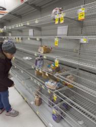 """Бурята """"Джонас"""" """"опостуши"""" и магазините в град Александрия, Вирджиния. Сн.: EPA/БГНЕС"""