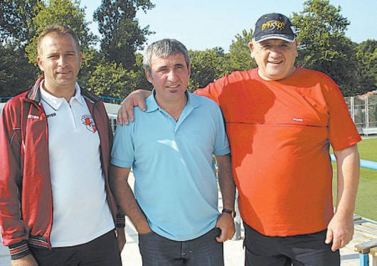 Г. Коцев, Г. Хаджи и Г. Коцев-Гаджо /отляво надясно/